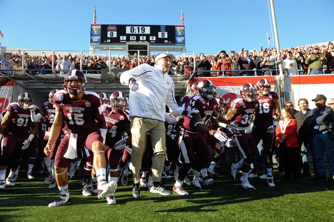 Dec 31, 2013; Memphis, TN, USA; Mississippi State Bulldogs head coach Dan Mullen before the game against the Rice Owls at Liberty Bowl Memorial Stadium. Mississippi State Bulldogs beat Rice Owls 44 - 7. Mandatory Credit: Justin Ford-USA TODAY Sports