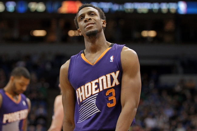 Jan 8, 2014; Minneapolis, MN, USA; Phoenix Suns guard Ish Smith (3) against the Minnesota Timberwolves at Target Center. The Suns defeated the Timberwolves 104-103. Mandatory Credit: Brace Hemmelgarn-USA TODAY Sports