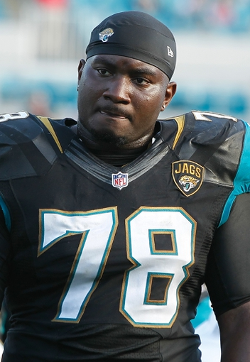 Dec 22, 2013; Jacksonville, FL, USA; Jacksonville Jaguars tackle Cameron Bradfield (78) against the Tennessee Titans during the second half at EverBank Field. Tennessee Titans defeated the Jacksonville Jaguars 20-16.  Mandatory Credit: Kim Klement-USA TODAY Sports
