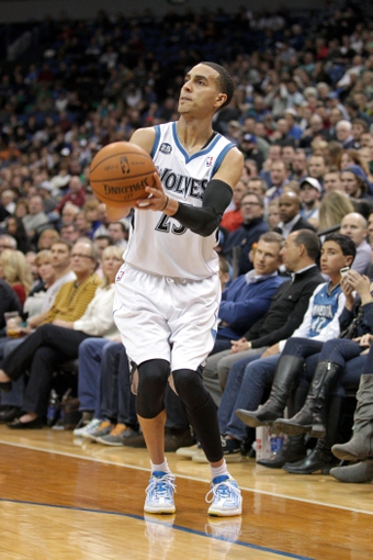 Jan 8, 2014; Minneapolis, MN, USA; Minnesota Timberwolves guard Kevin Martin (23) against the Phoenix Suns at Target Center. The Suns defeated the Timberwolves 104-103. Mandatory Credit: Brace Hemmelgarn-USA TODAY Sports