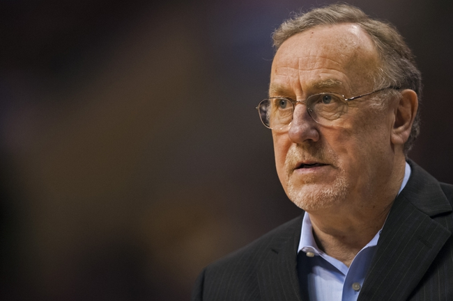 Jan 6, 2014; Philadelphia, PA, USA; Minnesota Timberwolves head coach Rick Adelman during the fourth quarter against the Philadelphia 76ers at the Wells Fargo Center. The Timberwolves defeated the Sixers 126-95. Mandatory Credit: Howard Smith-USA TODAY Sports