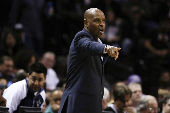 Jan 19, 2014; San Antonio, TX, USA; Milwaukee Bucks head coach Larry Drew gives direction to his team during the first half against the San Antonio Spurs at AT&T Center. Mandatory Credit: Soobum Im-USA TODAY Sports