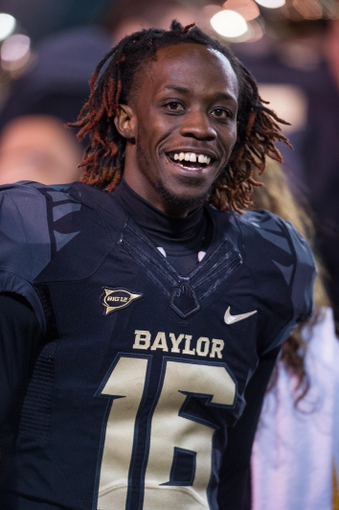Oct 5, 2013; Waco, TX, USA; Baylor Bears wide receiver Tevin Reese (16) during the game against the West Virginia Mountaineers at Floyd Casey Stadium. The Bears defeated the Mountaineers 73-42. Mandatory Credit: Jerome Miron-USA TODAY Sports