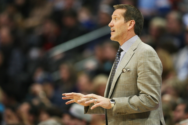 Feb 18, 2014; Denver, CO, USA; Phoenix Suns head coach Jeff Hornaceck during the second half against the Denver Nuggets at Pepsi Center.  The Suns won 112-107 in overtime.  Mandatory Credit: Chris Humphreys-USA TODAY Sports