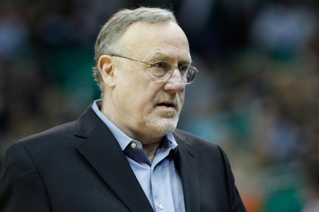 Feb 22, 2014; Salt Lake City, UT, USA; Minnesota Timberwolves head coach Rick Adelman during the game against the Utah Jazz at EnergySolutions Arena. Minnesota Timberwolves beat the Utah Jazz 121-104.  Mandatory Credit: Chris Nicoll-USA TODAY Sports