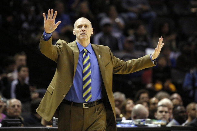Mar 2, 2014; San Antonio, TX, USA; Dallas Mavericks head coach Rick Carlisle gives direction to his team during the first half against the San Antonio Spurs at AT&T Center. Mandatory Credit: Soobum Im-USA TODAY Sports