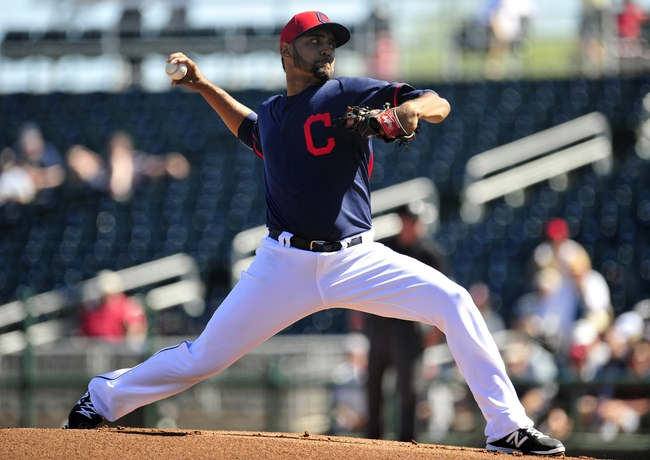 March 10, 2014; Goodyear, AZ, USA; Cleveland Indians starting pitcher Danny Salazar (31) pitches the first inning against the Los Angeles Angels at Goodyear Ballpark. Mandatory Credit: -USA TODAY Sports