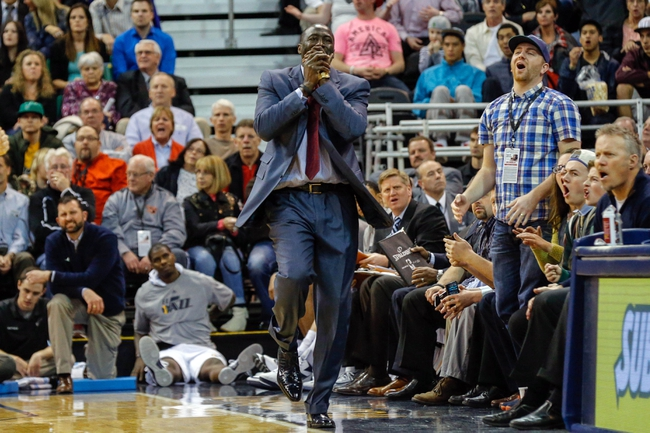 Mar 12, 2014; Salt Lake City, UT, USA; Utah Jazz head coach Tyrone Corbin reacts to a call during the fourth quarter against the Dallas Mavericks at EnergySolutions Arena. Mandatory Credit: Chris Nicoll-USA TODAY Sports