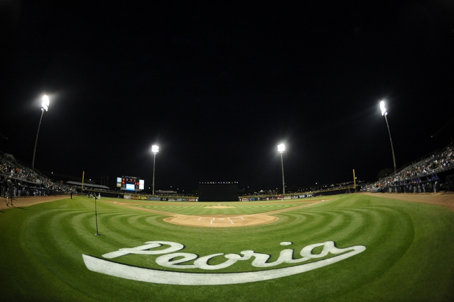 Mar 12, 2014; Peoria, AZ, USA; A general view of the field prior to the start of the game between the Seattle Mariners and the Chicago Cubs at Peoria Sports Complex. Mandatory Credit: Joe Camporeale-USA TODAY Sports