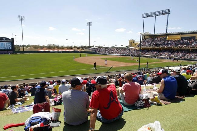 Mar 14, 2014; Lake Buena Vista, FL, USA; Tampa Bay Rays and Atlanta Braves fans watch the spring training game at Champion Stadium. Mandatory Credit: Kim Klement-USA TODAY Sports