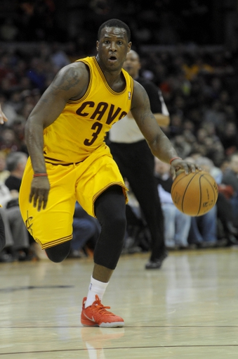 Mar 22, 2014; Cleveland, OH, USA; Cleveland Cavaliers guard Dion Waiters (3) against the Houston Rockets at Quicken Loans Arena. Houston won 118-111. Mandatory Credit: Ken Blaze-USA TODAY Sports