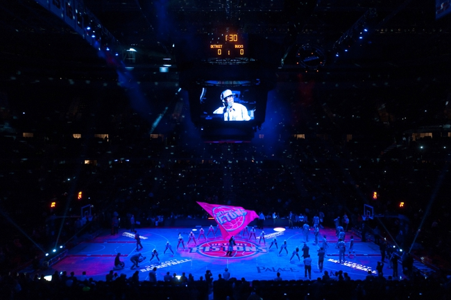 Mar 31, 2014; Auburn Hills, MI, USA; A general view of the Palace of Auburn Hills prior to the game between the Detroit Pistons and the Milwaukee Bucks. Mandatory Credit: Tim Fuller-USA TODAY Sports