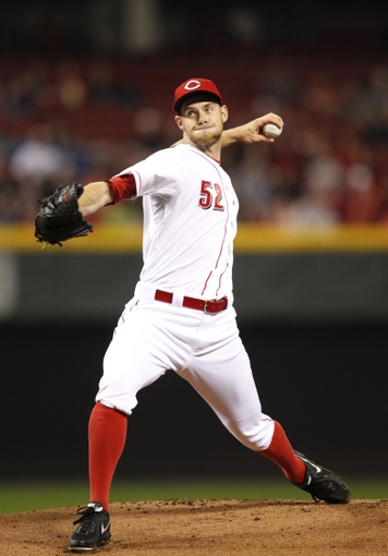 Apr 2, 2014; Cincinnati, OH, USA; Cincinnati Reds starting pitcher Tony Cingrani (52) pitches during the first inning against the St. Louis Cardinals at Great American Ball Park. Mandatory Credit: Frank Victores-USA TODAY Sports