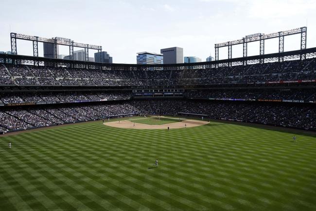 Apr 4, 2014; Denver, CO, USA; A general view during the sixth inning between the Colorado Rockies and the Arizona Diamondbacks at Coors Field. Mandatory Credit: Chris Humphreys-USA TODAY Sports