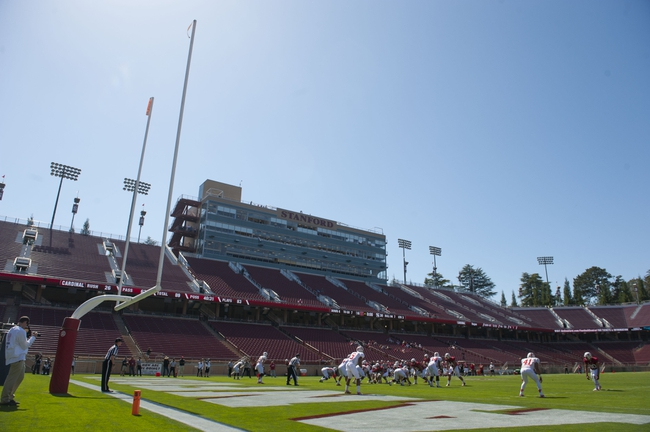 April 12, 2014; Stanford, CA, USA; General view during the spring game at Stanford Stadium. Mandatory Credit: Kyle Terada-USA TODAY Sports