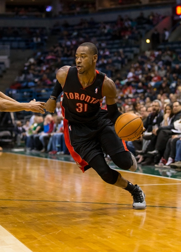 Apr 5, 2014; Milwaukee, WI, USA; Toronto Raptors forward Terrence Ross (31) during the game against the Milwaukee Bucks at BMO Harris Bradley Center.  Toronto won 102-98.  Mandatory Credit: Jeff Hanisch-USA TODAY Sports