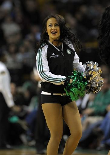 Apr 16, 2014; Boston, MA, USA; The Boston Celtics perform during the second half against the Washington Wizards at TD Garden. Mandatory Credit: Bob DeChiara-USA TODAY Sports