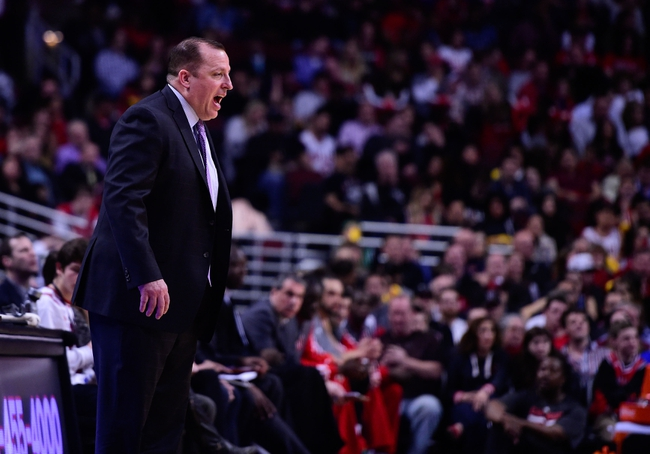 Apr 14, 2014; Chicago, IL, USA; Chicago Bulls head coach Tom Thibodeau during the second half at the United Center. Mandatory Credit: Mike DiNovo-USA TODAY Sports