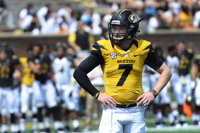 Apr 19, 2014; Columbia, MO, USA; Missouri Tigers quarterback Maty Mauk (7) waits for the play call during the Black & Gold Game at Faurot Field. Mandatory Credit: Dak Dillon-USA TODAY Sports