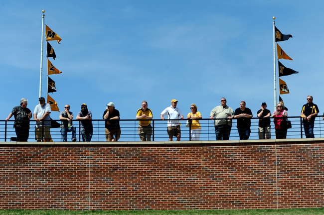Apr 19, 2014; Columbia, MO, USA; Fans watch during the Black & Gold Game at Faurot Field. Mandatory Credit: Dak Dillon-USA TODAY Sports