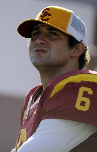 Apr 19, 2014; Los Angeles, CA, USA; Southern California quarterback Cody Kessler (6) stands on the sidelines during the Southern California Spring Game at Los Angeles Memorial Coliseum. Mandatory Credit: Kelvin Kuo-USA TODAY Sports