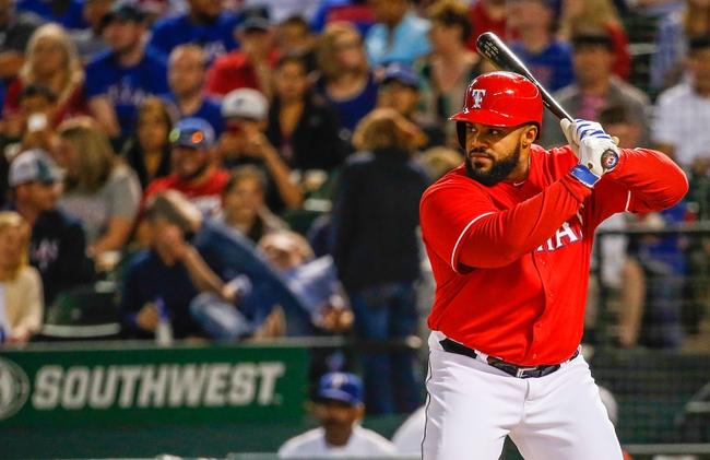 Apr 19, 2014; Arlington, TX, USA; Texas Rangers first baseman Prince Fielder (84) bats during the game against the Chicago White Sox at Globe Life Park in Arlington. Texas won 6-3. Mandatory Credit: Kevin Jairaj-USA TODAY Sports