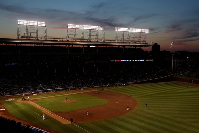 Apr 22, 2014; Chicago, IL, USA; A general view during the third inning of a game between the Chicago Cubs and Arizona Diamondbacks at Wrigley Field. Mandatory Credit: Jerry Lai-USA TODAY Sports