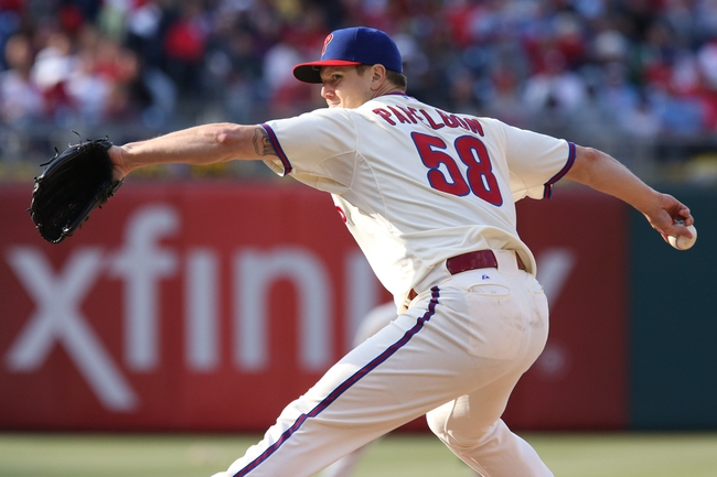 May 4, 2014; Philadelphia, PA, USA; Philadelphia Phillies relief pitcher Jonathan Papelbon (58) pitches in the 9th inning of a game against the Washington Nationals at Citizens Bank Park. The Phillies defeated the Nationals 1-0. Mandatory Credit: Bill Streicher-USA TODAY Sports