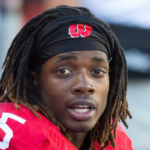 Oct 12, 2013; Madison, WI, USA; Wisconsin Badgers running back Melvin Gordon (25) during the game against the Northwestern Wildcats at Camp Randall Stadium.  Wisconsin won 35-6.  Mandatory Credit: Jeff Hanisch-USA TODAY Sports