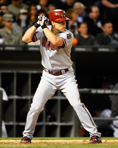 May 9, 2014; Chicago, IL, USA; Arizona Diamondbacks shortstop Chris Owings (16) during the sixth inning at U.S Cellular Field. Mandatory Credit: Mike DiNovo-USA TODAY Sports