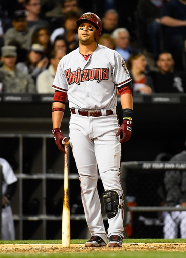 May 9, 2014; Chicago, IL, USA; Arizona Diamondbacks third baseman Martin Prado (14) during the sixth inning at U.S Cellular Field. Mandatory Credit: Mike DiNovo-USA TODAY Sports