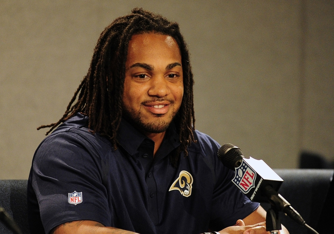 May 13, 2014; St. Louis, MO, USA; St. Louis Rams third round pick running back Tre Mason talks with the media during a press conference at Rams Park. Mandatory Credit: Jeff Curry-USA TODAY Sports