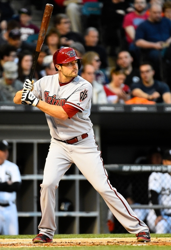 May 9, 2014; Chicago, IL, USA; Arizona Diamondbacks center fielder A.J. Pollock (11) during the fourth inning at U.S Cellular Field. Mandatory Credit: Mike DiNovo-USA TODAY Sports