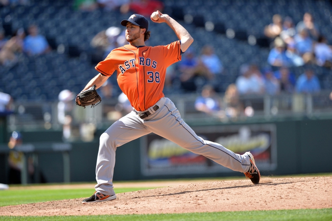 May 28, 2014; Kansas City, MO, USA; Houston Astros pitcher Darin Downs (38) delivers a pitch against the Kansas City Royals  during the eighth inning at Kauffman Stadium. The Astros beat the Royals 9-3. Mandatory Credit: Peter G. Aiken-USA TODAY Sports