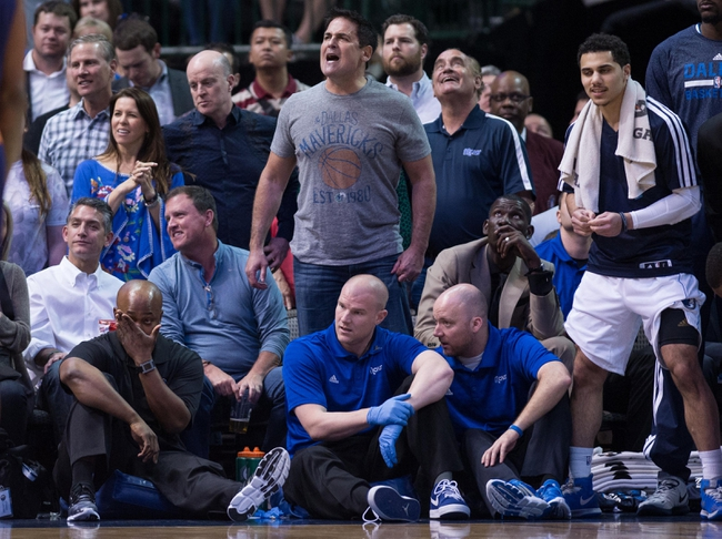 Apr 12, 2014; Dallas, TX, USA; Dallas Mavericks owner Mark Cuban during the game between the Mavericks and the Phoenix Suns at the American Airlines Center. The Mavericks defeated the Suns 101-98. Mandatory Credit: Jerome Miron-USA TODAY Sports