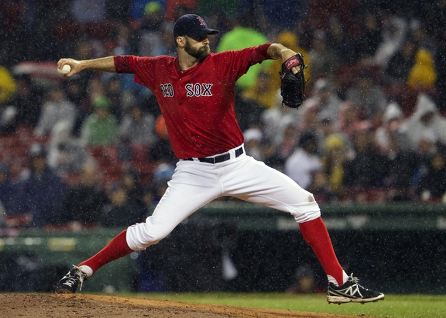 May 30, 2014; Boston, MA, USA; Boston Red Sox relief pitcher Burke Badenhop (35) throws a pitch against the Tampa Bay Rays during the seventh inning at Fenway Park. Mandatory Credit: David Butler II-USA TODAY Sports