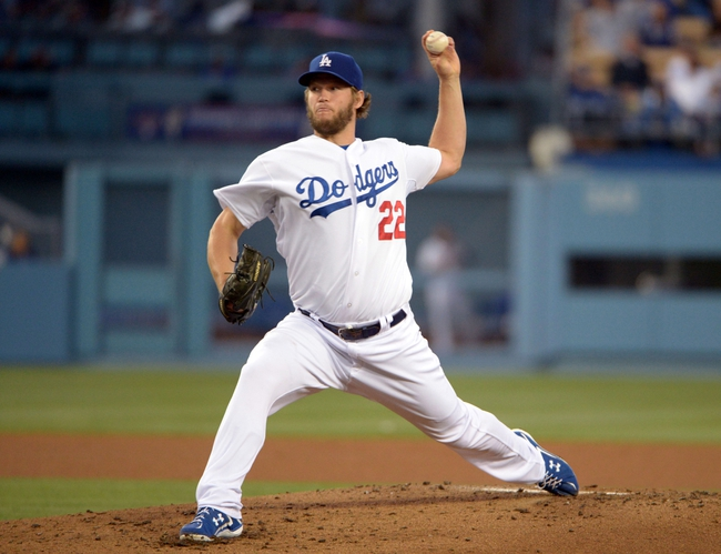 Jun 2, 2014; Los Angeles, CA, USA; Los Angeles Dodgers starter Clayton Kershaw (22) delivers a pitch against the Chicago White Sox at Dodger Stadium. Mandatory Credit: Kirby Lee-USA TODAY Sports