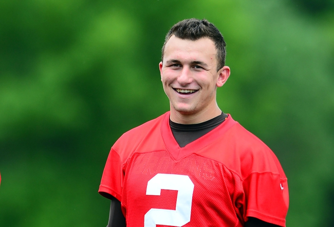 Jun 12, 2014; Berea, OH, USA; Cleveland Browns quarterback Johnny Manziel (2) during minicamp at Browns training facility. Mandatory Credit: Andrew Weber-USA TODAY Sports