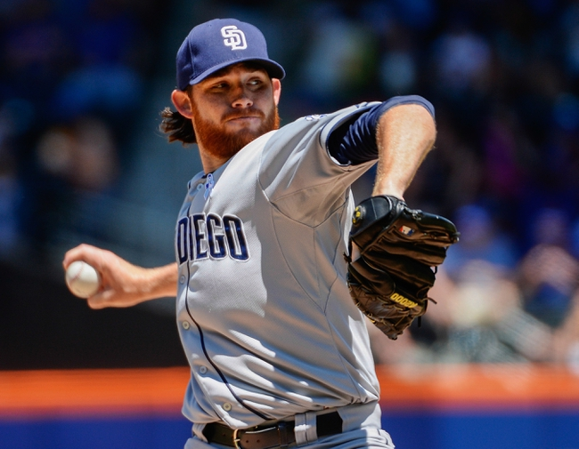 Jun 15, 2014; New York, NY, USA; San Diego Padres starting pitcher Ian Kennedy (22) throws during the game against the New York Mets at Citi Field. Mandatory Credit: Robert Deutsch-USA TODAY Sports