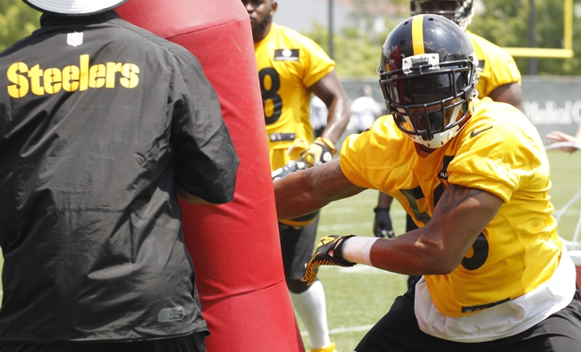 Jun 17, 2014; Pittsburgh, PA, USA; Pittsburgh Steelers lineback Ryan Shazier (50) participates in drills during minicamp at the UPMC Sports Performance Complex. Mandatory Credit: Charles LeClaire-USA TODAY Sports