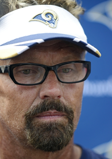 Jun 17, 2014; St. Louis, MO, USA; St. Louis Rams defensive coordinator Gregg Williams talks with the media during minicamp at Rams Park. Mandatory Credit: Jeff Curry-USA TODAY Sports