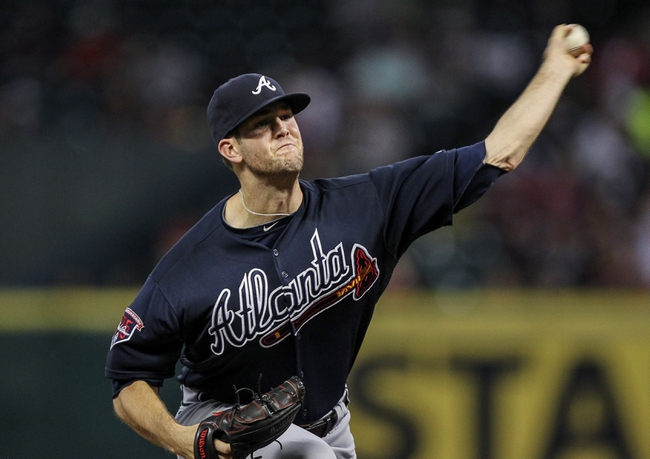 Jun 25, 2014; Houston, TX, USA; Atlanta Braves relief pitcher Alex Wood (40) pitches during the third inning against the Houston Astros at Minute Maid Park. Mandatory Credit: Troy Taormina-USA TODAY Sports