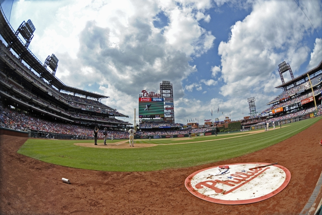 Jun 29, 2014; Philadelphia, PA, USA; A general view of game between the Philadelphia Phillies and the Atlanta Braves at Citizens Bank Park. The Braves won 3-2. Mandatory Credit: Eric Hartline-USA TODAY Sports