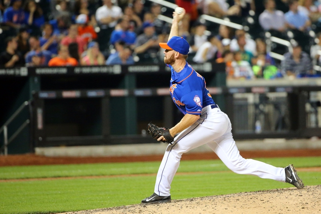 Jul 11, 2014; New York, NY, USA;  New York Mets relief pitcher Vic Black (38) pitches during the eighth inning against the Miami Marlins at Citi Field. Mandatory Credit: Anthony Gruppuso-USA TODAY Sports