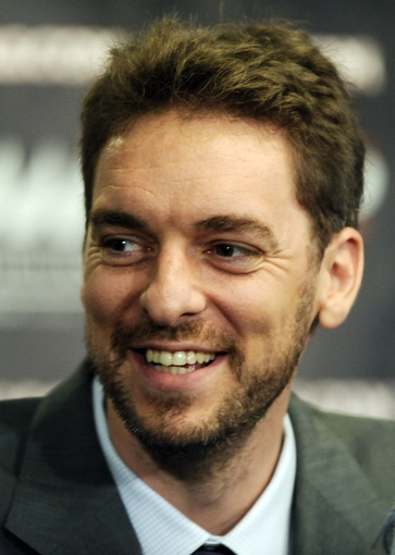 Jul 18, 2014; Chicago, IL, USA; Chicago Bulls center Pau Gasol in attendance during a press conference at the United Center. Mandatory Credit: David Banks-USA TODAY Sports