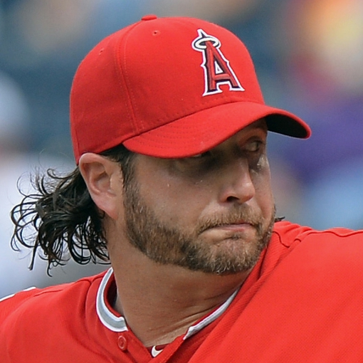 Jun 29, 2014; Kansas City, MO, USA; Los Angeles Angels pitcher Jason Grilli (39) delivers a pitch against the Kansas City Royals during the ninth inning at Kauffman Stadium. Mandatory Credit: Peter G. Aiken-USA TODAY Sports