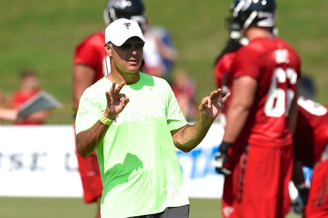 Jul 26, 2014; Atlanta, GA, USA; Atlanta Falcons defensive coordinator Mike Nolan shown on the field during training camp at Falcons Training Complex. Mandatory Credit: Dale Zanine-USA TODAY Sports