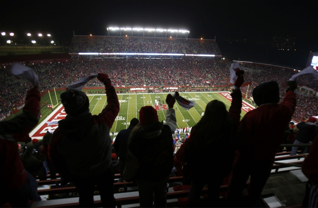Nov 29, 2012; Piscataway, NJ, USA; Rutgers Scarlet Knights fans cheer during the first half against the Louisville Cardinals at High Point Solutions Stadium. Mandatory Credit: Chris Faytok/THE STAR-LEDGER via USA TODAY Sports