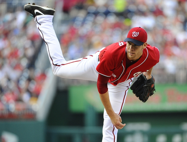 Aug 17, 2014; Washington, DC, USA; Washington Nationals starting pitcher Doug Fister (58) throws during the second inning against the Pittsburgh Pirates at Nationals Park. Mandatory Credit: Brad Mills-USA TODAY Sports