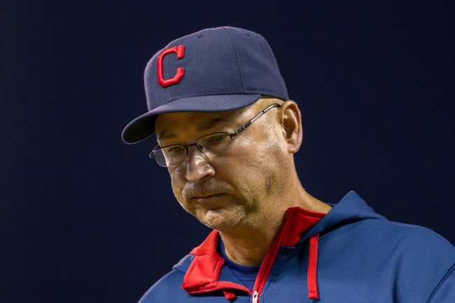 Aug 19, 2014; Minneapolis, MN, USA; Cleveland Indians manager Terry Francona walks back to the dugout in the seventh inning against the Minnesota Twins at Target Field. The Cleveland Indians win 7-5. Mandatory Credit: Brad Rempel-USA TODAY Sports